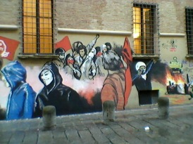The new grafitto in the antifa's part of the university area.