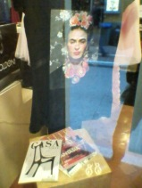 Frida Kahlo clothing in a small corner store.