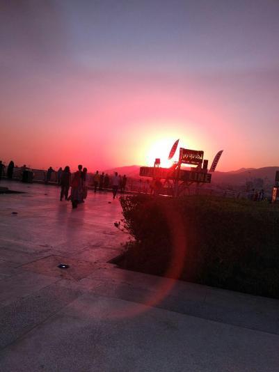 Sonnenuntergang in Teheran