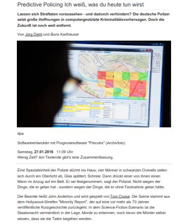 Ein Artikel mit sehr ähnlichem Aufbau und Anfang, Spiegel Online 2018